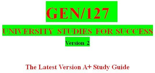 GEN127 Week 1 Student Life Worksheet