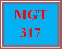MGT 317 Week 1 Values & Ethics