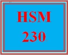 HSM 230 Week 3 HSM Personal Leadership Plan