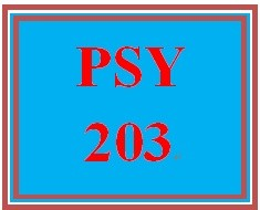 PSY 203 Entire Course