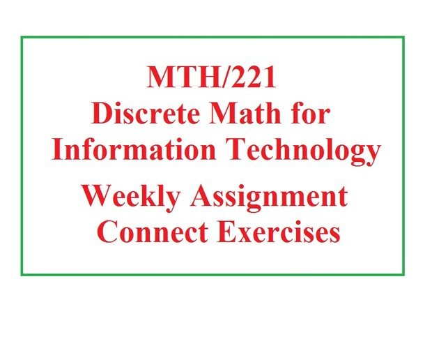 MTH 221 Week 3 Assignment - Week 3 Connect Exercises