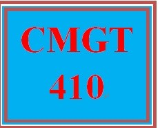 CMGT 410 Week 1 Project versus Operations