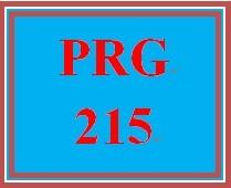 PRG 215 Week 4 Individual Game Score