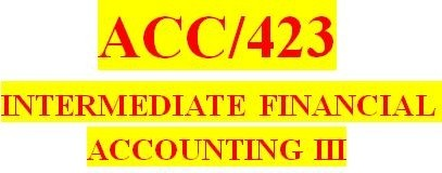 ACC 423 Week 3 Textbook Problems