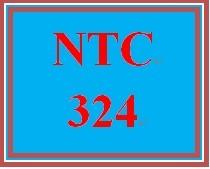 NTC 324 Week 1 Individual: Systems Scenario