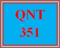 QNT 351 Week 4 Connect Problem Set
