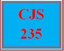 CJS 235 Entire Course