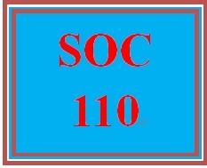 SOC 110 Week 4 participation Week 4 Electronic Reserve Readings