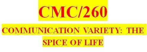 CMC 260 Week 3 Outline for Guidebook Section Three