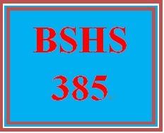 BSHS 385 Week 4 Skillful Interviewing