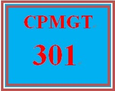 CPMGT 301 Week 2 Integrated Initiation and Planning Discussion