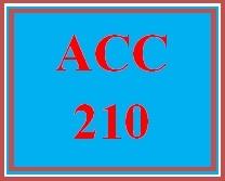 ACC 210 Entire Course