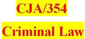 CJA 354 Week 3 Outline for Final Paper