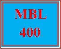 MBL 400 Week 1 Individual: Sales Pitch