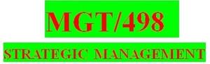 MGT 498 Week 1 Individual Strategic Management Process Paper