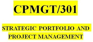 CPMGT 301 Week 2 Portfolio Management and Strategic Management Paper