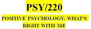 PSY 220 Week 8 Exploring Optimism