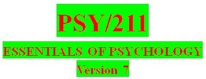 PSY 211 Entire Course