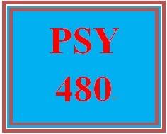 PSY 480 Week 4 Learning Team Deliverable