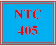 NTC 405 Week 4 Individual: Interview Questions