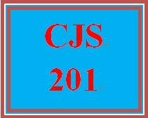 CJS 201 Week 5 Outline of Final Paper