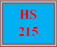 HS 215 Week 5 Goals, Focus, and Success Plan