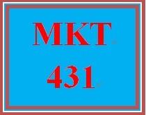 MKT 431 Week 1 Business Opportunity Worksheet
