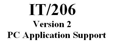 IT206 Week 6 Assignment MS Access Exercise