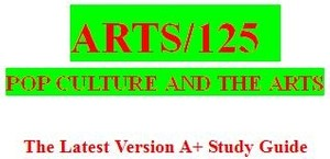 ARTS 125 Week 4 Popular Culture and Art