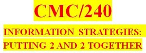 CMC 240 Week 6 Information Trail