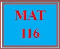 MAT 116 Week 5 MyMathLab Study Plan for Week 5 Checkpoint