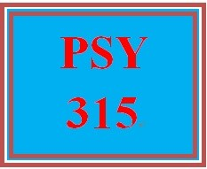 PSY 315 Week 5 Correlation Study Worksheet
