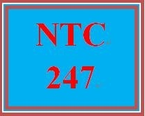 NTC 247 Week 1 Individual: Week One Quiz