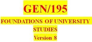 GEN 195 Week 2 Readiness & Behavioral Assessment
