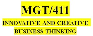 MGT 411 Week 4 Innovative Thinking in a Business: Measurement and Reward System