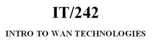 IT 242 Week 9 Final Project - WAN Design