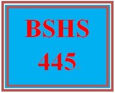 BSHS 445 Week 5 Caretaker Interview