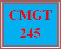 CMGT 245 Week 2 Individual Information Security Policy – Executive Summary