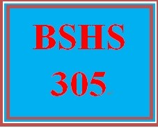 BSHS 305 Week 2 Learning Team Charter