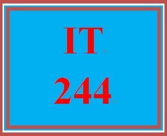 IT 244 Week 5 Individual Creating Secure Networks