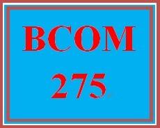 BCOM 275 Week 1 Assignment 1.1.