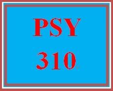PSY 310 Week 5 Psychoanalytic Model Paper