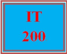 IT 200 Week 3 Supporting Activity: Analytic Tools