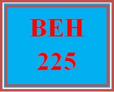 BEH 225 Week 4 Problem Solving Simulation