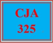 CJA 325 Week 1 Learning Team Review