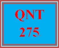 QNT 275 Week 4 - 10 Term Assignment