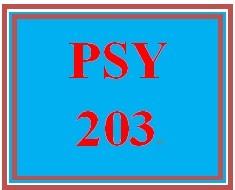 PSY 203 Week 1 Week One Assignment Worksheet
