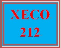 XECO 212 Week 7 A New House – Economy