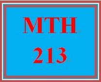 MTH 213 Week 5 Comprehensive Quiz