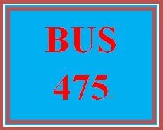 BUS 475 Week 3 Strategic Plan Part 2 SWOT Analysis Paper